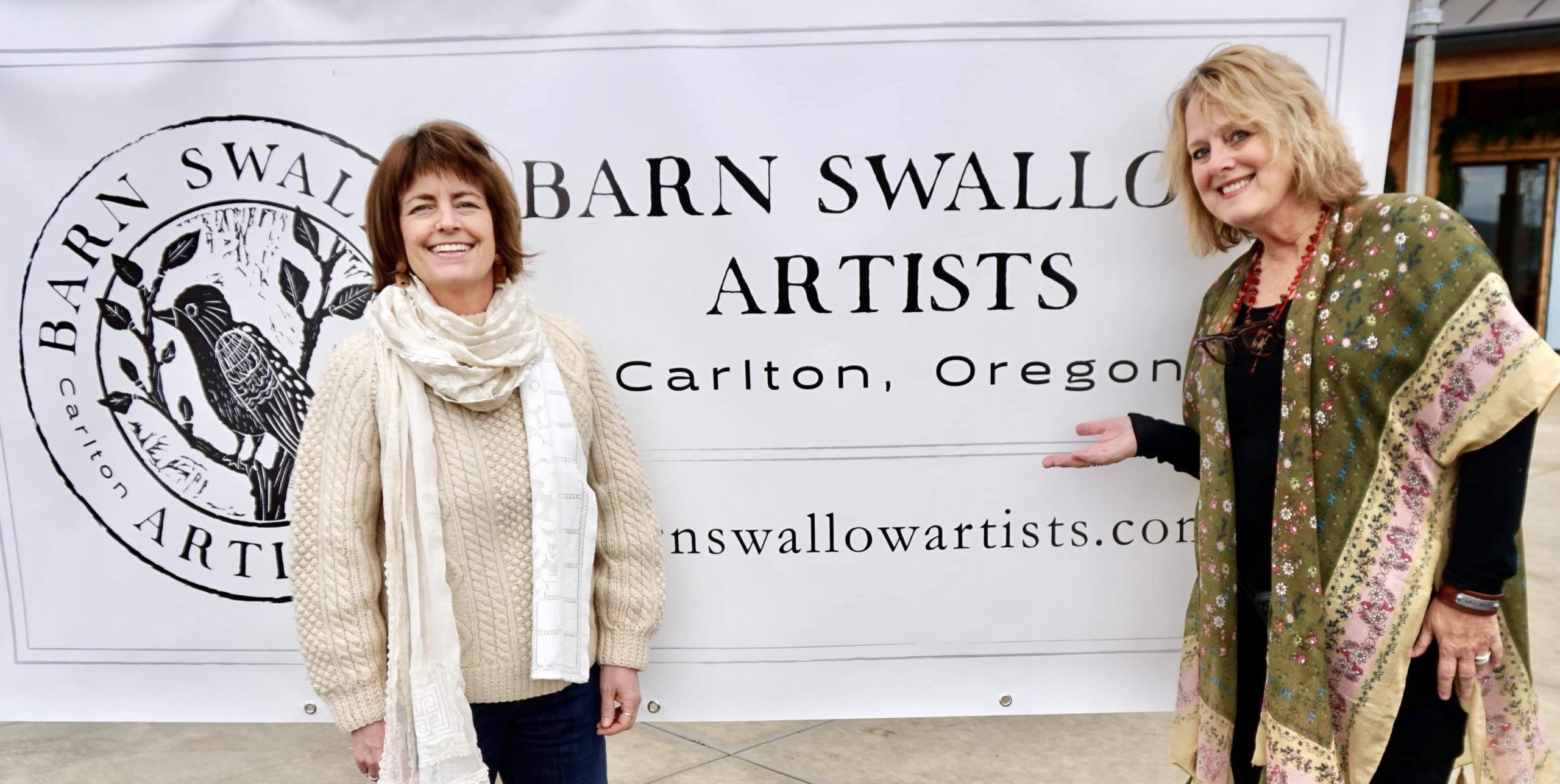 Laurie Lewis and Lynn Van Horn, Founders of Barn Swallow Artists